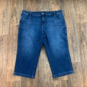 Old Navy Straight Leg Cropped Jeans Size 26 SHORT